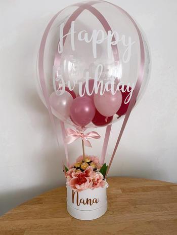 Deco Bubble Flower Hamper $88