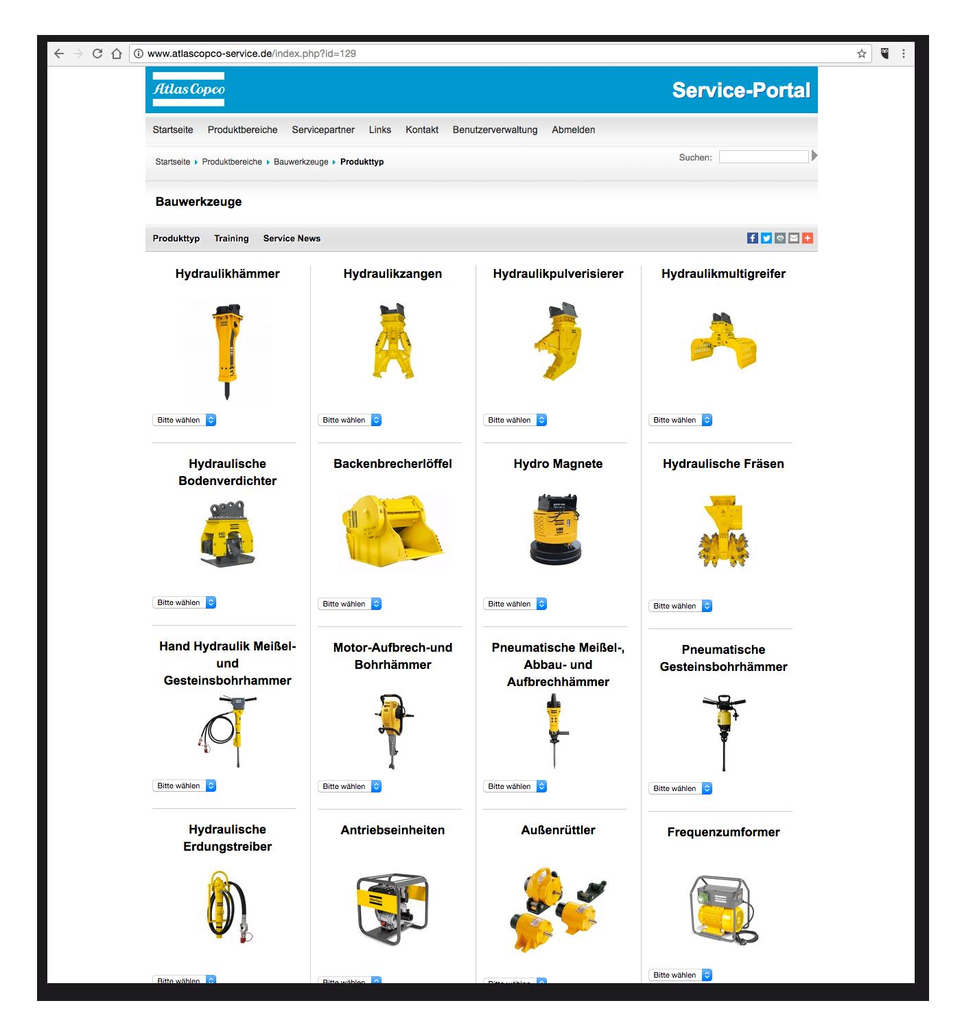 AtslasCopco-Service - Bauwerkzeuge