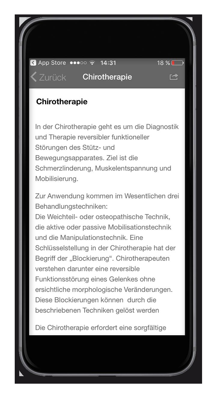 Praxis-App - Chirotherapie