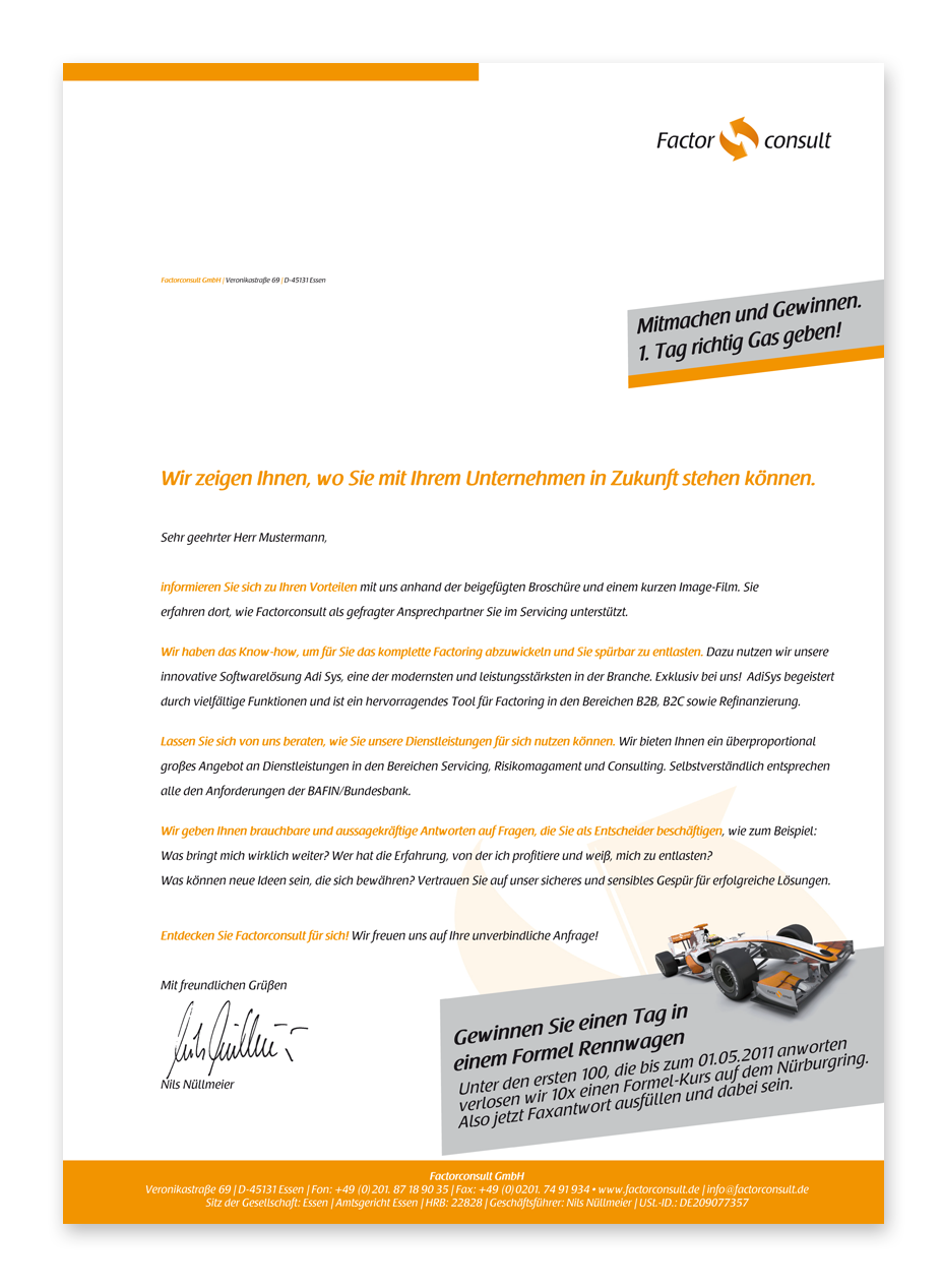 Direct mail Aktion