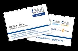 Visitenkarte der Adi-Gruppe
