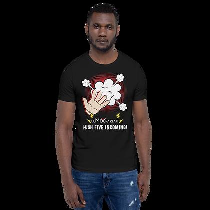 T-Shirt Unisexe - High Five Incoming! (Noir)