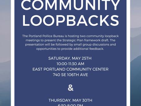 Portland Police Bureau Community Loopback Meetings