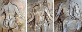 2018 Acryl und Pastell auf Leinwand je 80 x 100 cm
