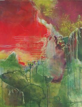 2018 Acryl und Pigmente auf Leinwand 65 x 80 cm