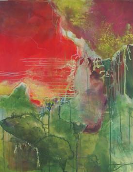 2018 Acryl und Pigmente auf Leinwand 80 x 65 cm