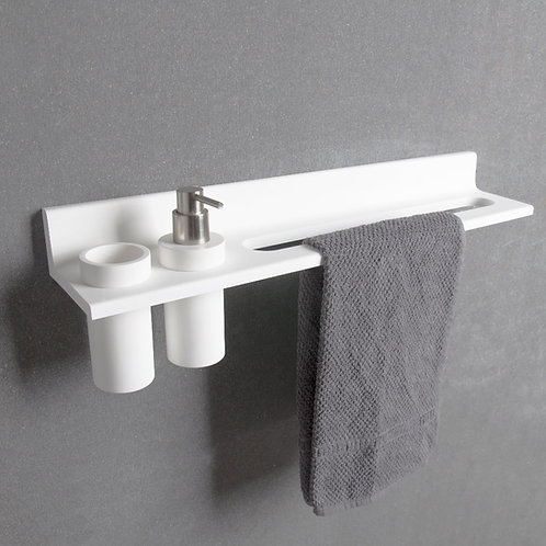 ATHENS - Shelves with 2 Holes & Towel Bar