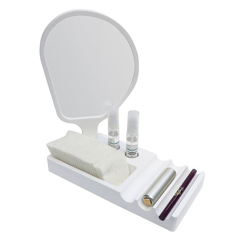 Cosmetics Tray with Mirror