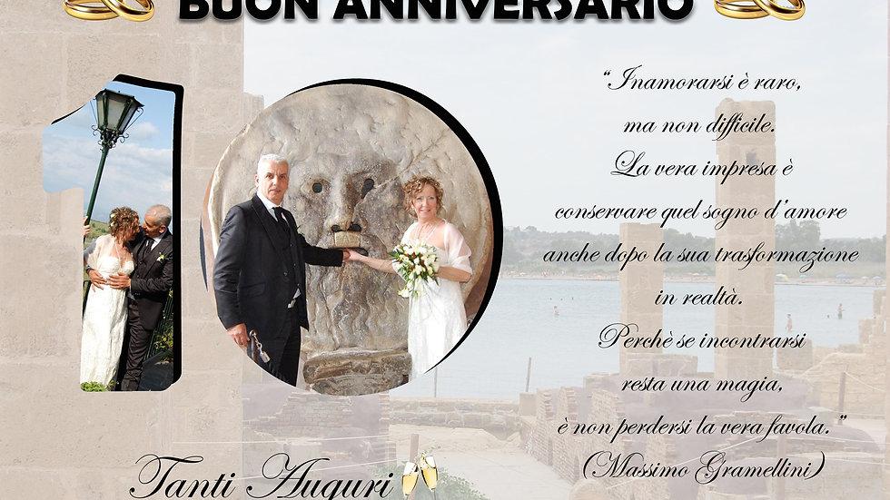 quadretto matrimonio anniversario