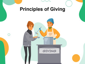 5 Principles of giving biblically