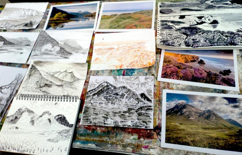 Van Gogh Reed Pen Drawings