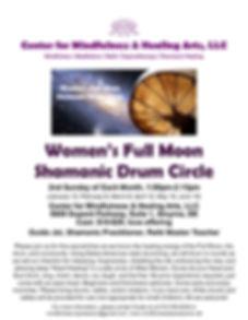 FLYER-Womens Full Moon Shamanic Drum Cir