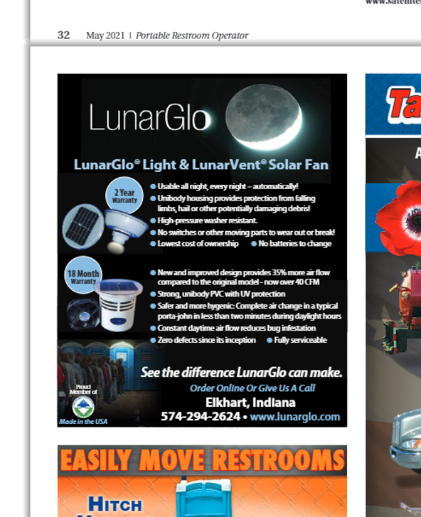 LunarGlo ad May 2021 Issue page 33 Promo