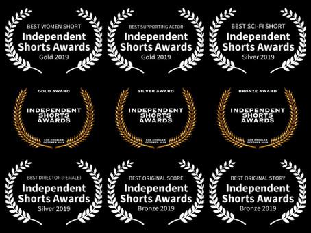 Six Awards at Independent Shorts Awards