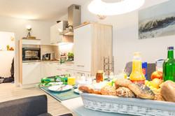 Der Blick in die Küche