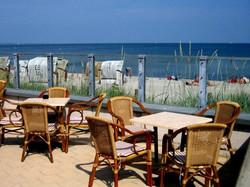 Restaurantaussenber. direkt am Ostseestrand