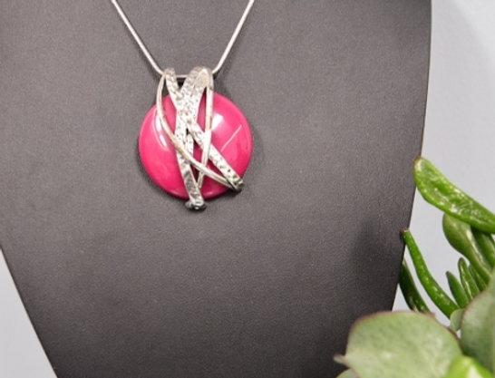 Halsketting Modern Pink