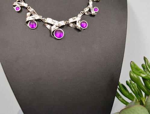 Halsketting Modern Purple