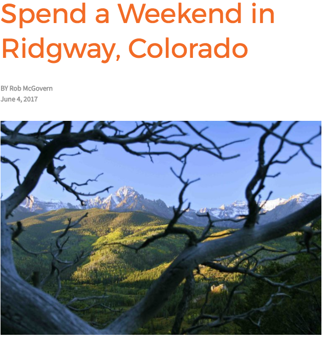A Weekend in Ridgway, Colorado