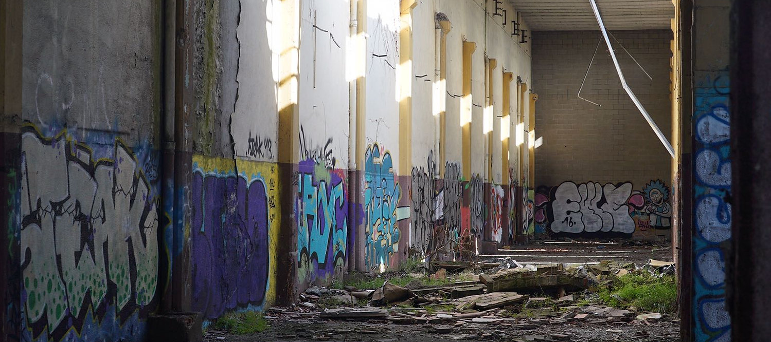 abandoned place in Giron Spain. spot for musi session