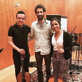 Musician recording Eli Ben Avi composition