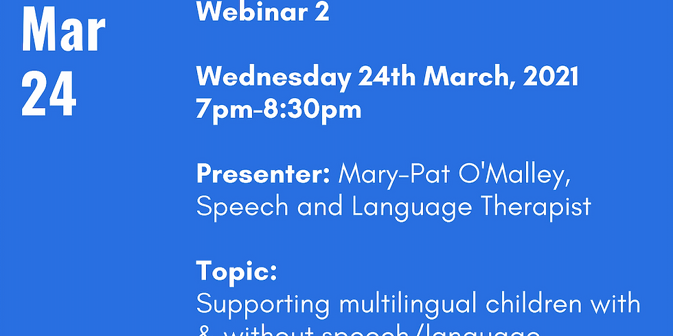 ELSTA Speaker (Mary-Pat O'Malley) and Q&A Event March 24th, 2021 at 7pm-8:30pm