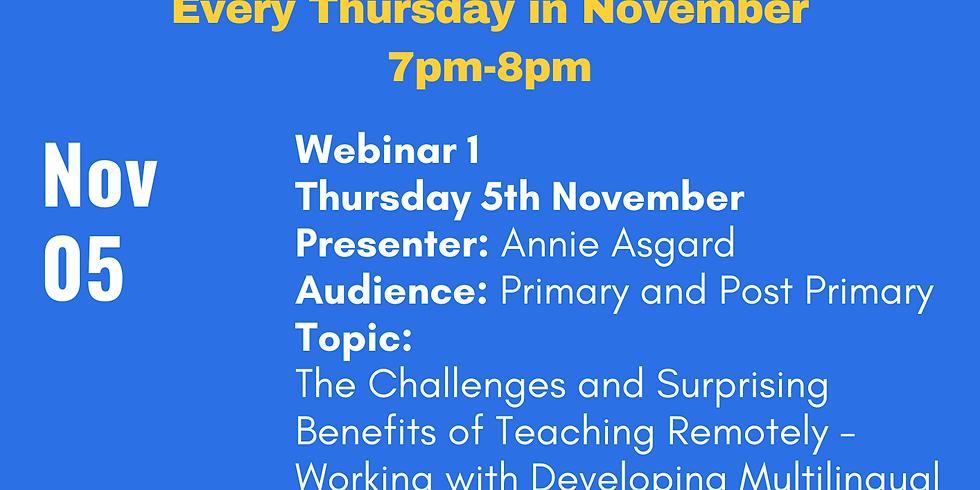 ELSTA Seminar Series - Week 1 <Primary and Post-Primary> (Presenter Annie Asgard)