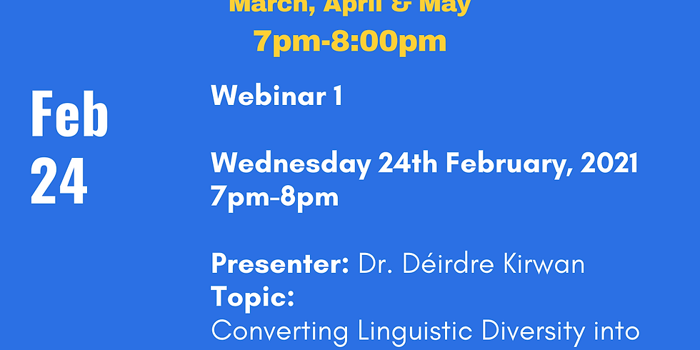 ELSTA Speaker (Dr. Déirdre Kirwan) and Q & A Event February 24,  2021