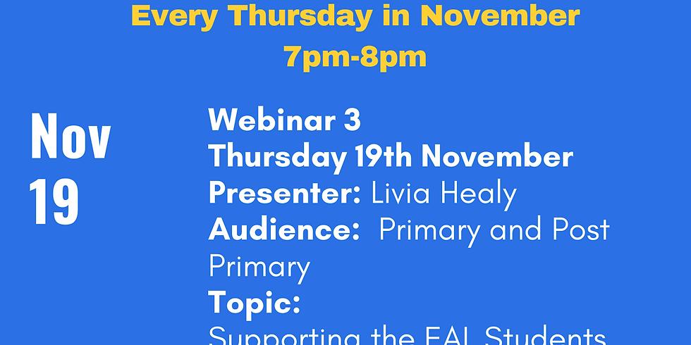 ELSTA Seminar Series - Week 3 <Primary and Post-Primary> (Presenter Livia Healy)