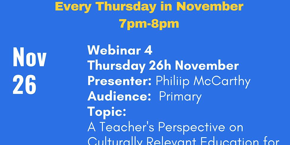 ELSTA Seminar Series - Week 4 <Primary> (Presenter Philip McCarthy)