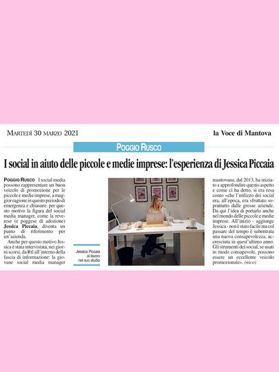 Articolo su La Voce di Mantova