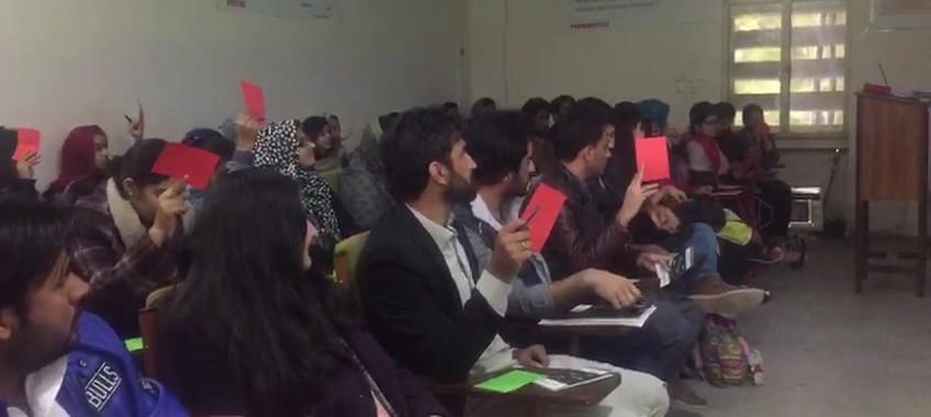 Information session at QAU