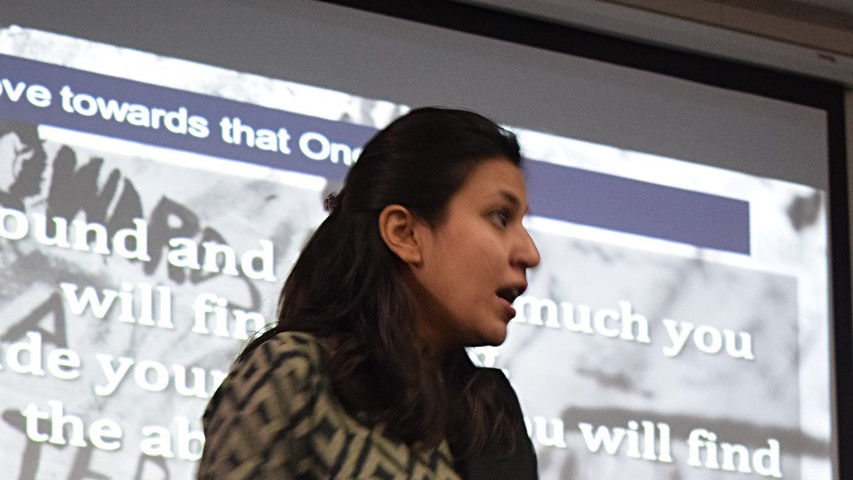 Tooba Akhter, Head of Training and Leadership in discussion.