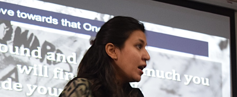 Tooba Akhter, Head of Training and Leadership in discussion