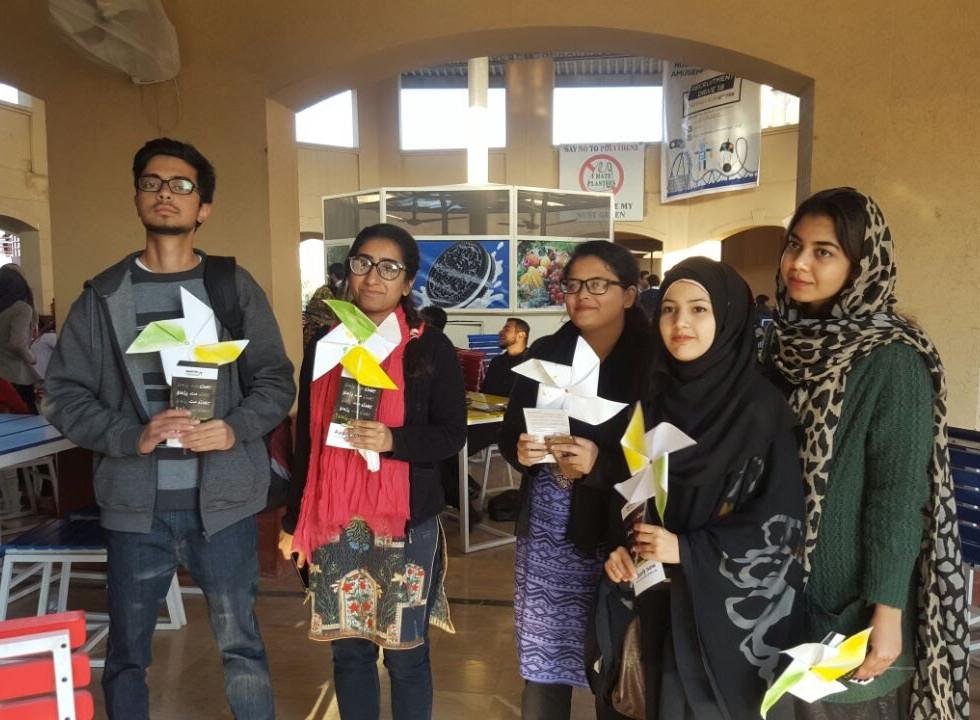 Campus ambassadors engaging students at NUST