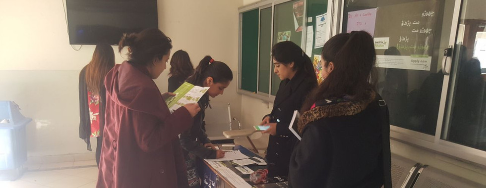 Campus Ambassadors engaging with students at Bahria university