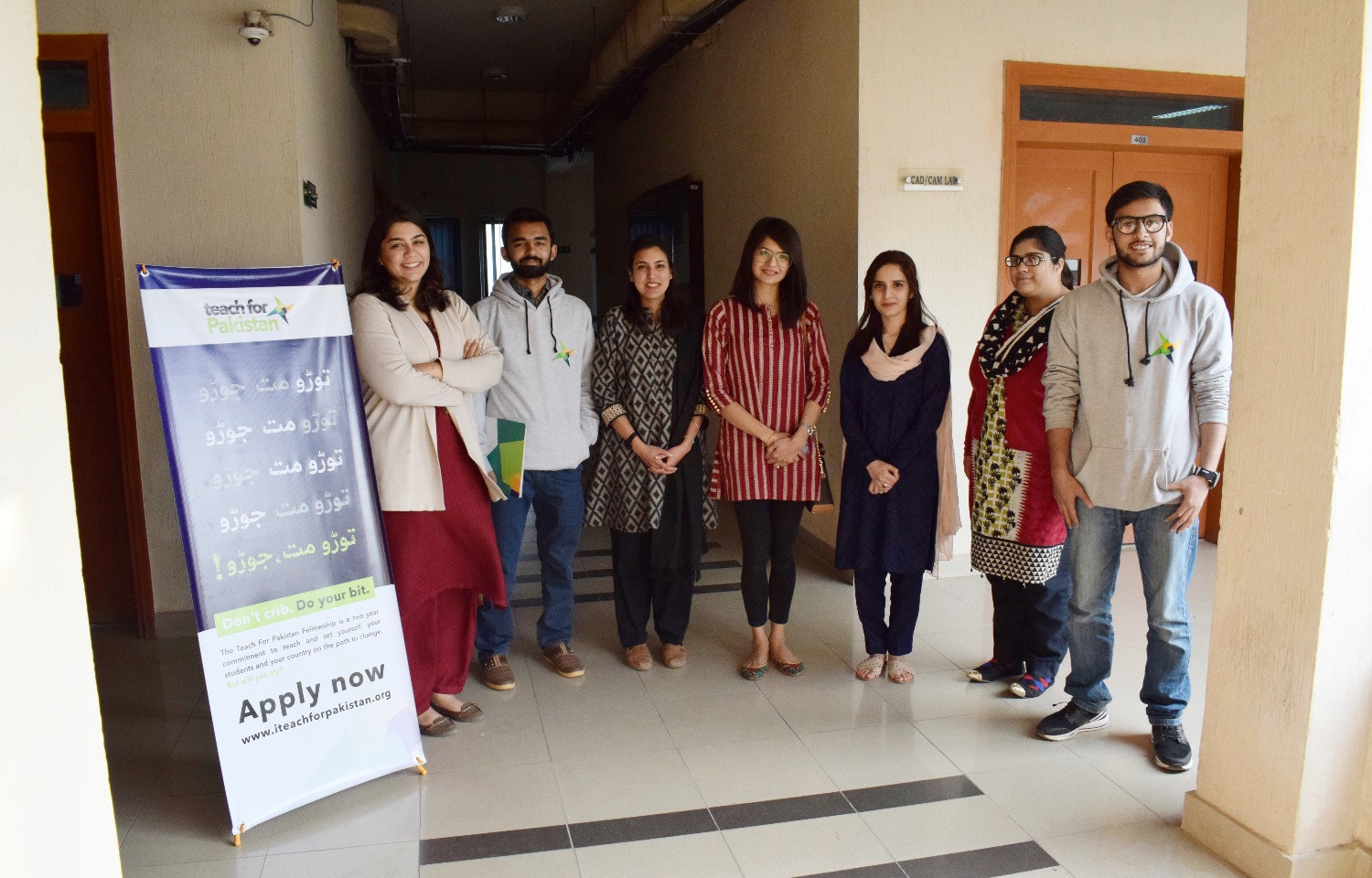 Campus ambassadors and the TFP team