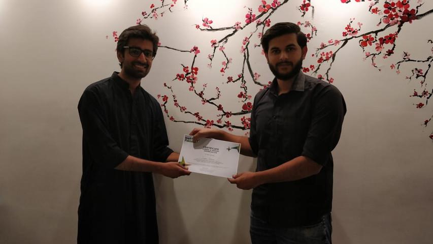 Campus Ambassador recognition
