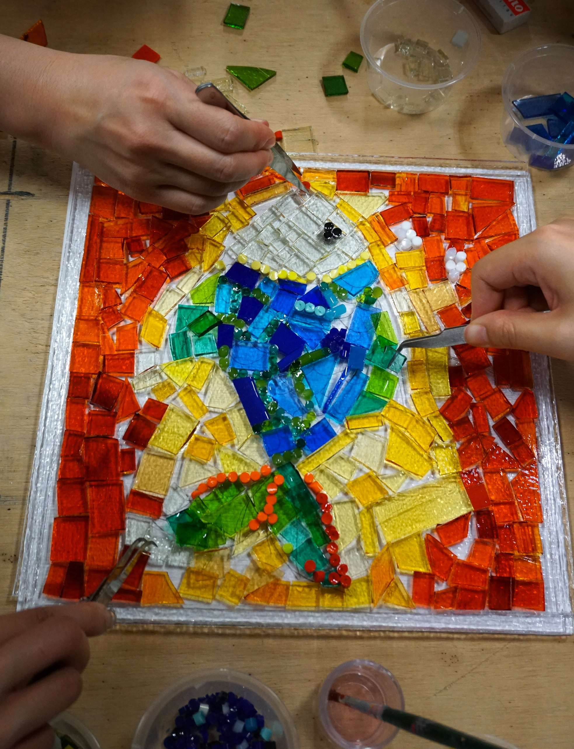 Assembling a vibrant piece of Art