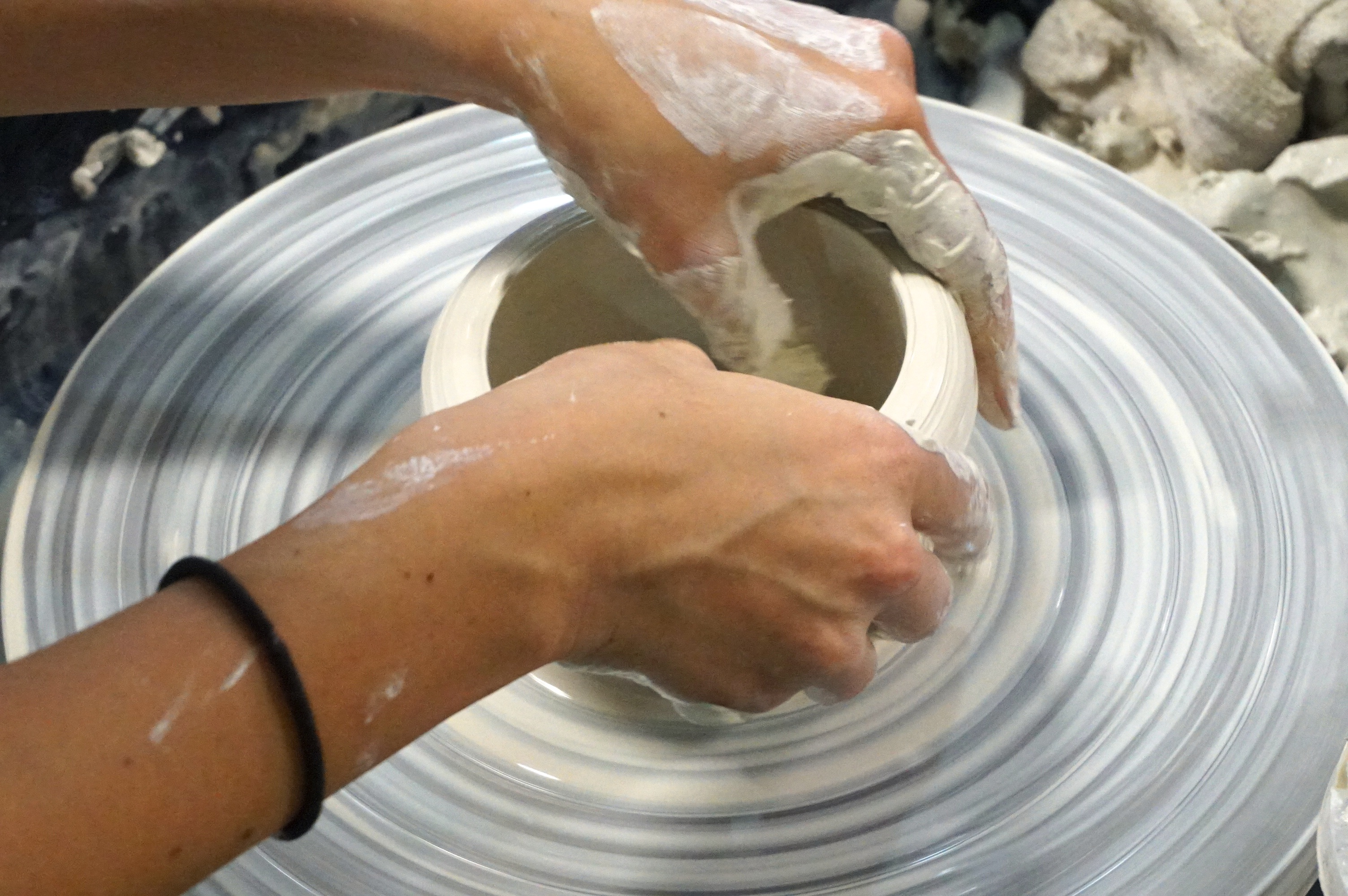 Setting up the clay