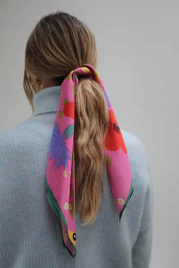 'IN BLOOM' Silk Scarf