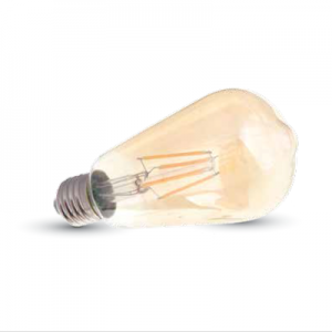 LIGHTUP LED Filament 6W ST65 E27 Amber-Cover Warm Dimmable