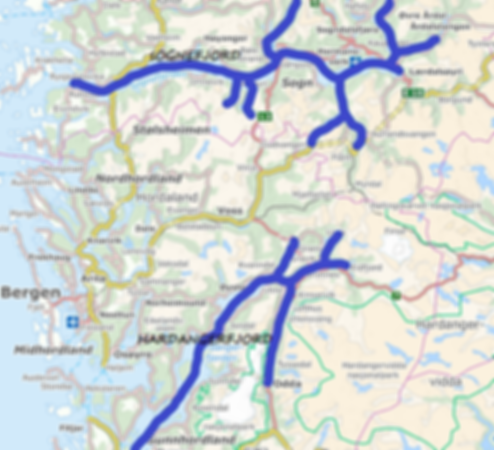 Map Hardangerfjord and Sognefjord text_e