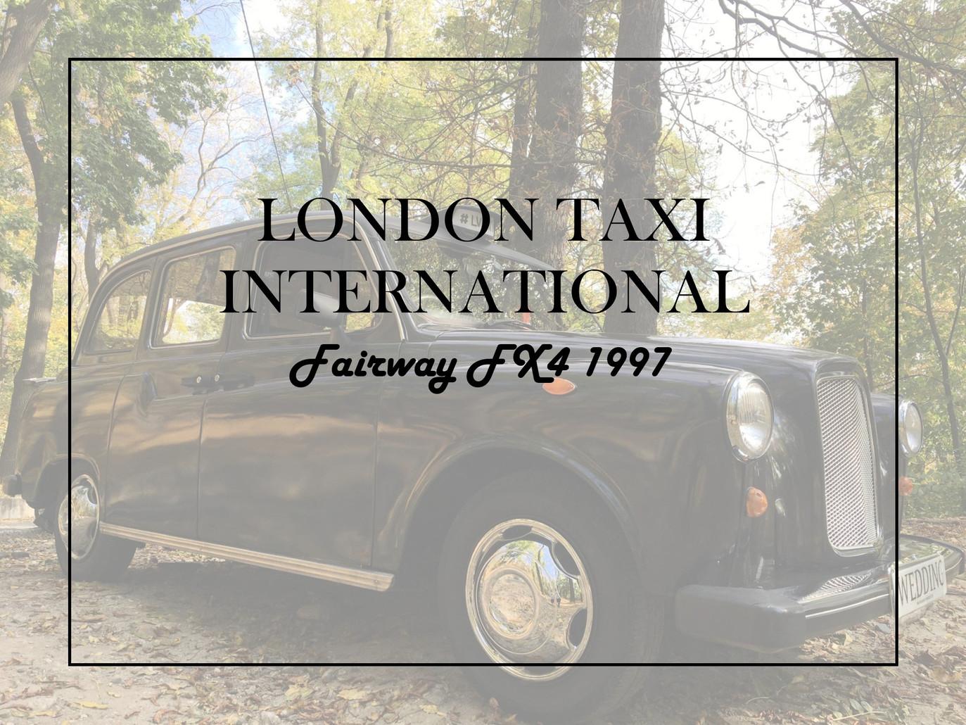 Єдине лондонське таксі (оригінальний кеб) у Львові