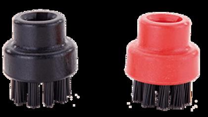 Svart/Röd nylon borste 28mm