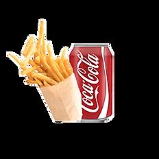 Menu frites et boisson