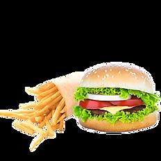 Hamburger frite