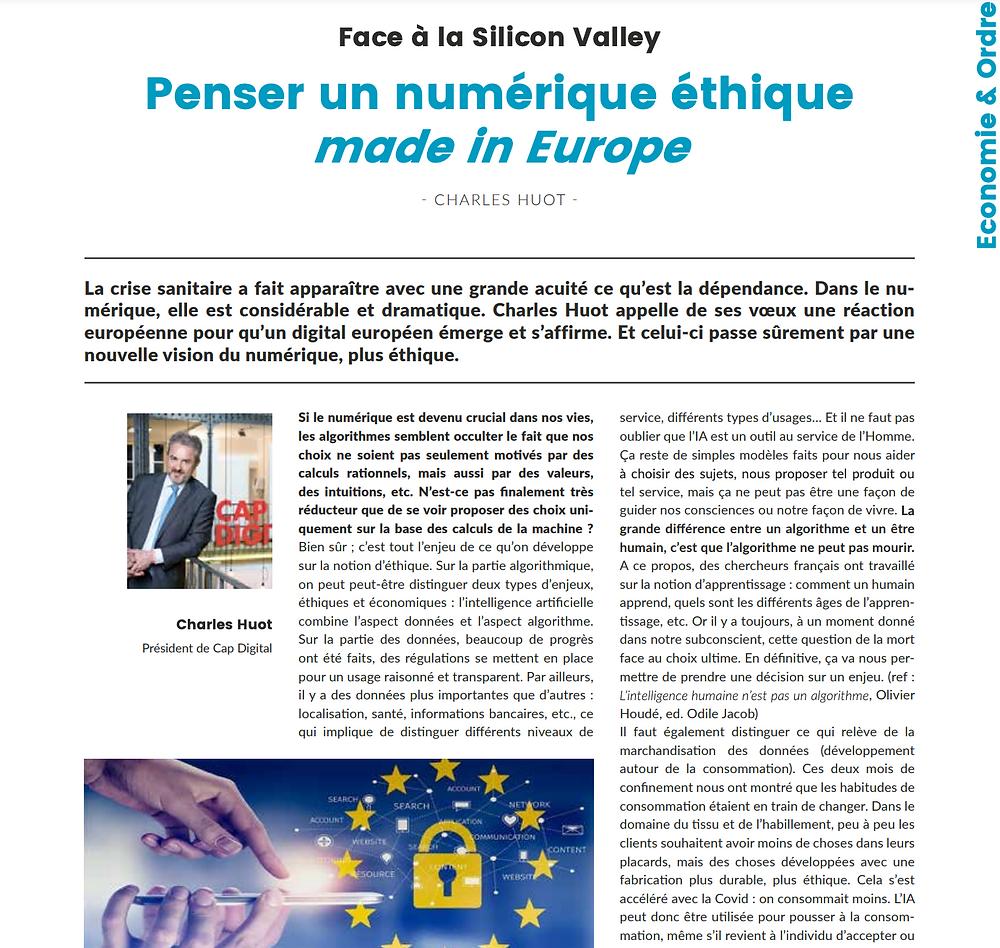 Interview de Charles Huot sur le numérique éthique made in Europe