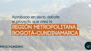Aprobado en sexto debate el proyecto Región Metropolitana