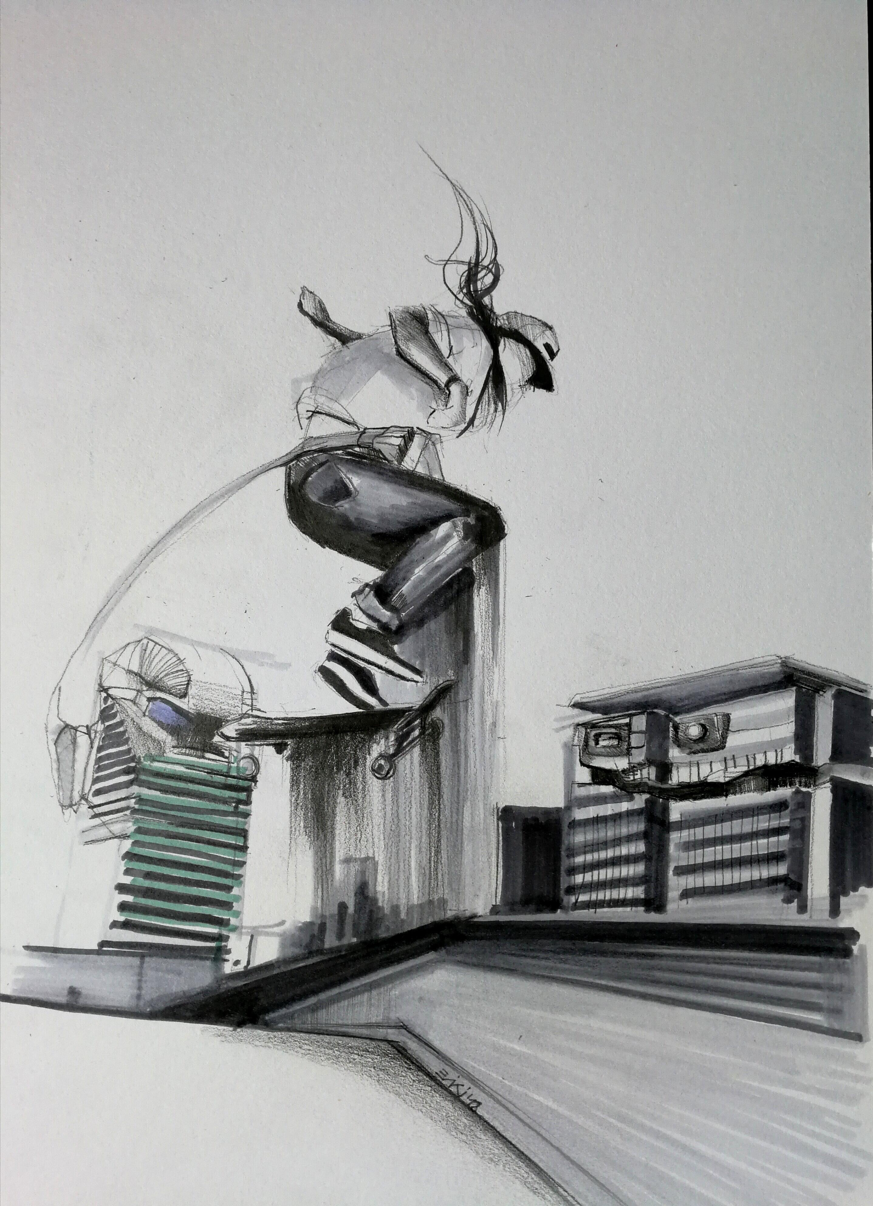 Skateboard sketch Viktoria Eperjesi